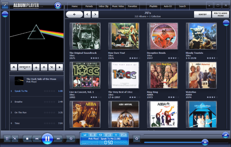 Jukebox style music software|AlbumPlayer